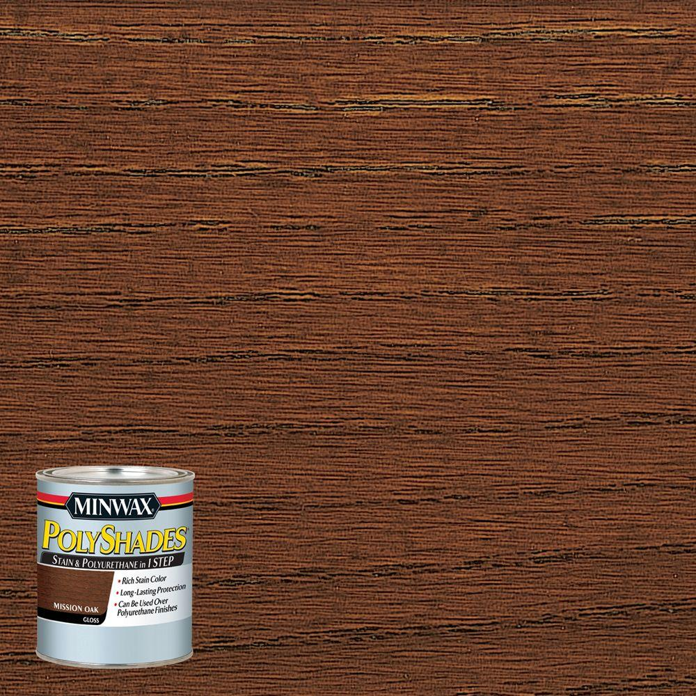 8 oz. PolyShades Mission Oak Gloss 1-Step Stain and Polyurethane