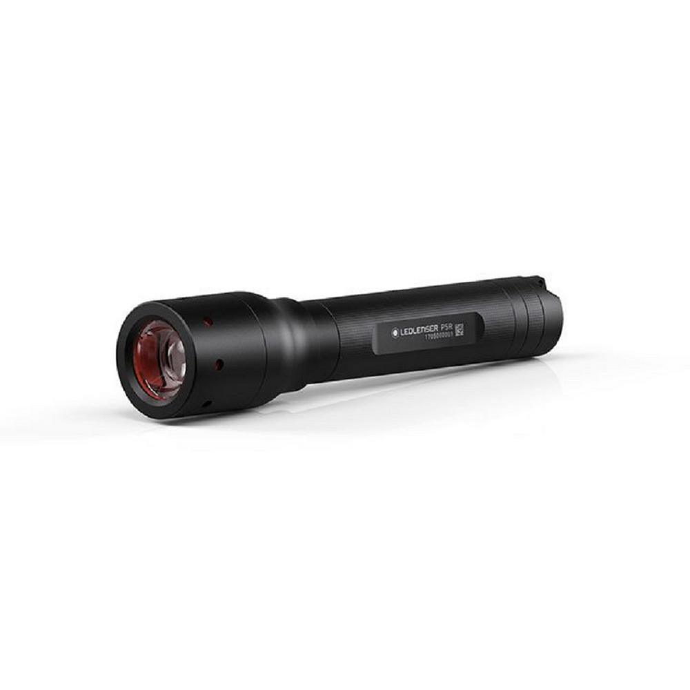 LED Lenser P5R.2 420 Lumen Rechargeable LED Flashlight, Black The all-new P5R.2 rechargeable flashlight has power and portability in a rechargeable option. The P5R.2 comes with our one-of-a-kind, Floating Charge System for wall-mounted or on-the-go charging. Just pop the flashlight into the magnetic recharging system (no need to mess around with wires or batteries) and store for as long as you like - there's no battery memory. To recharge on the go, the system comes with a USB cord. With an output of up to 270-Lumens and the ability to be recharged up to 1000 times, you'll be ready for anything. Color: Black.