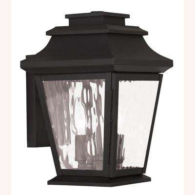 Hathaway 2-Light Black Outdoor Wall Lantern