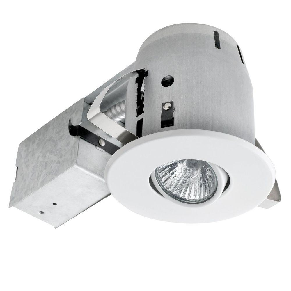 Recessed Lighting Electric Bill : Globe electric in sleek directional white recessed