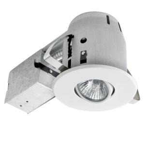 Globe Electric 4 inch Sleek Directional White Recessed Lighting Kit by Globe Electric