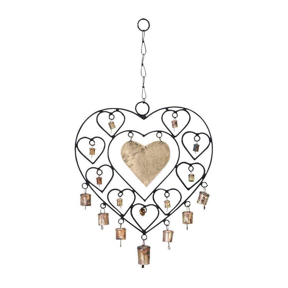 ORE International Metal Heart Windchime