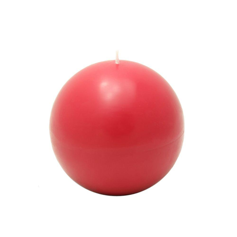 Zest Candle 4 in. Red Ball Candles (2-Box)