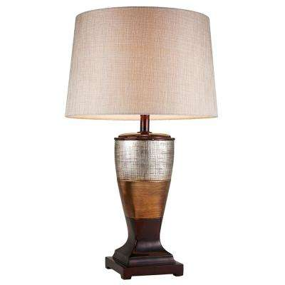 30 in. Naomi Color Block Table Lamp