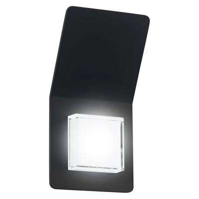 Pias 2-Light Black Outdoor Integrated LED Wall Light