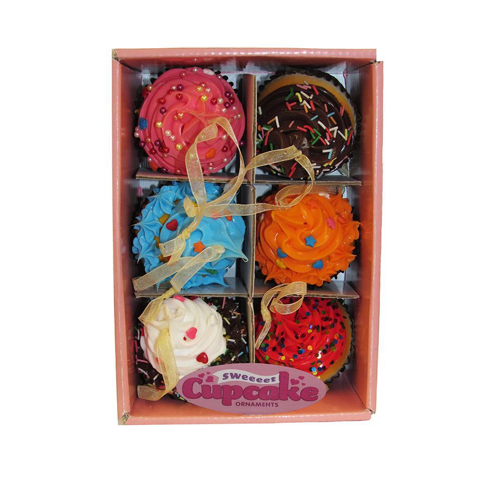 Kurt Adler Set of Six 2.75 in. Foam Cupcake Ornaments
