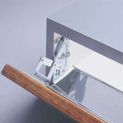 4 in. H x 3 in. W x 2 in. D Nickel Plated Scissor Hinges Cabinet Organizer in Silver (1 Pair)
