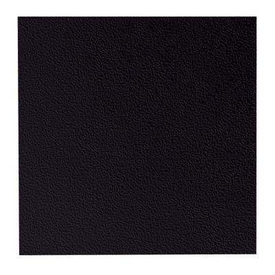 Hammered Pattern 19.69 in. x 19.69 in. Black Rubber Tile