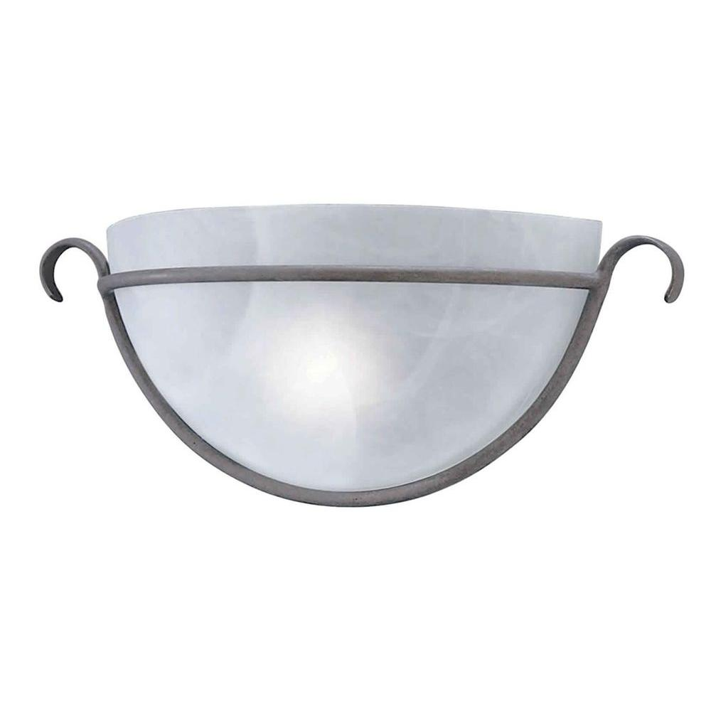 Talista 1-Light Desert Stone Sconce with Marble Glass