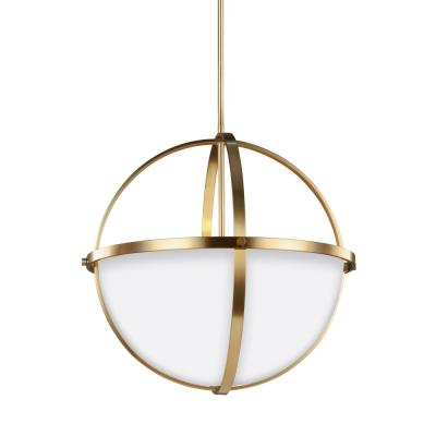 Alturas 3-Light Satin Bronze Pendant with LED Bulbs