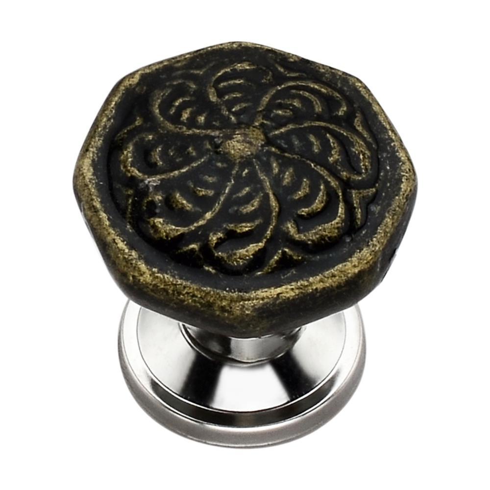 Octagon Swirl 1.46 in. Ceramic Cabinet Knob