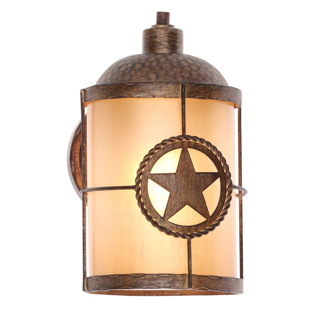 Hampton bay lone star 1 light desert sands outdoor wall mount hampton bay lone star 1 light desert sands outdoor wall mount lantern arubaitofo Choice Image