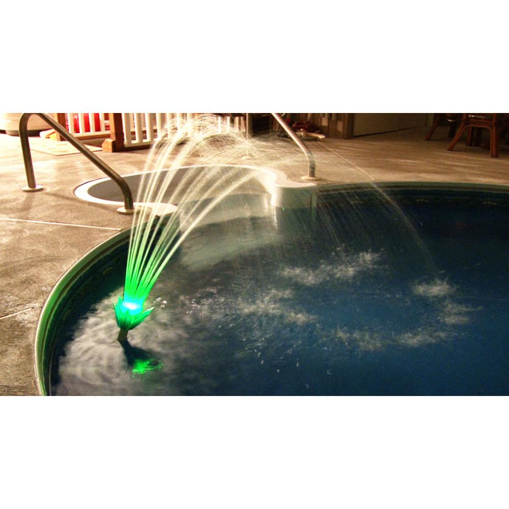 Pool Fountain Magic Color Changing Led Lighting No Cords Batteries Solar Water Ed
