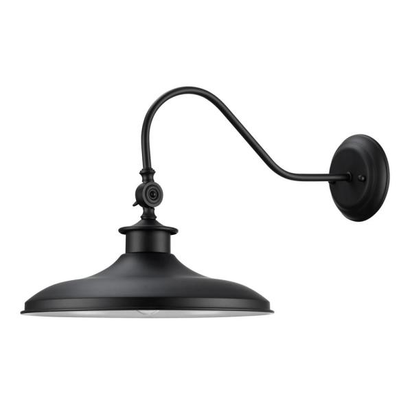 Aedan 1-Light Black Swivel Wall Sconce Light