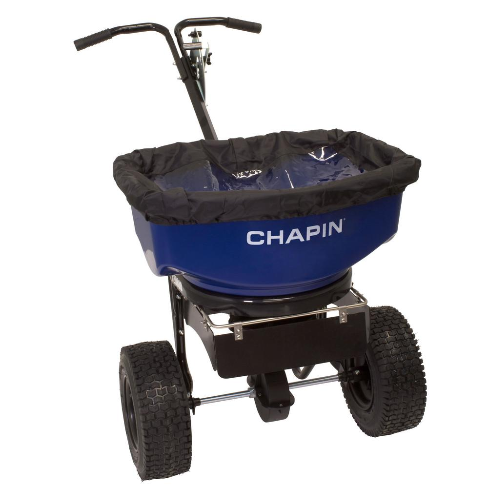 80 lb. Capacity Professional Contractor Broadcast Salt and Ice Melt Spreader