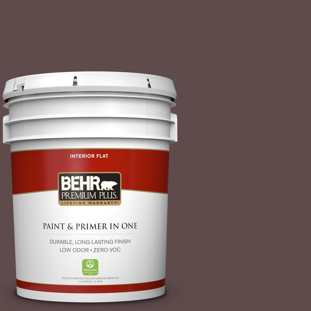 5 gal. #720B-7 Spanish Raisin Zero VOC Flat Interior Paint