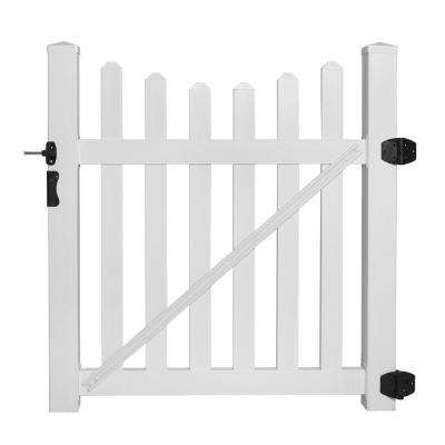 Helena 4 ft. W x 4 ft. H Vinyl Picket Fence Gate EZ Pack