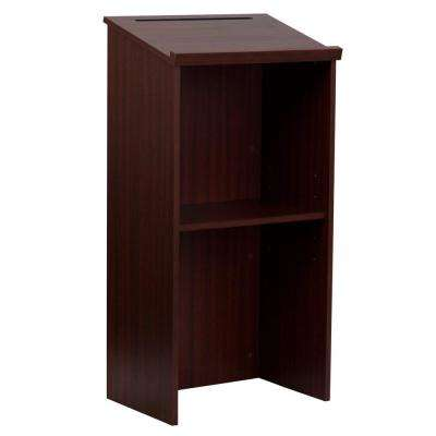 Wood Stand-up Podium Lectern, Mahogany