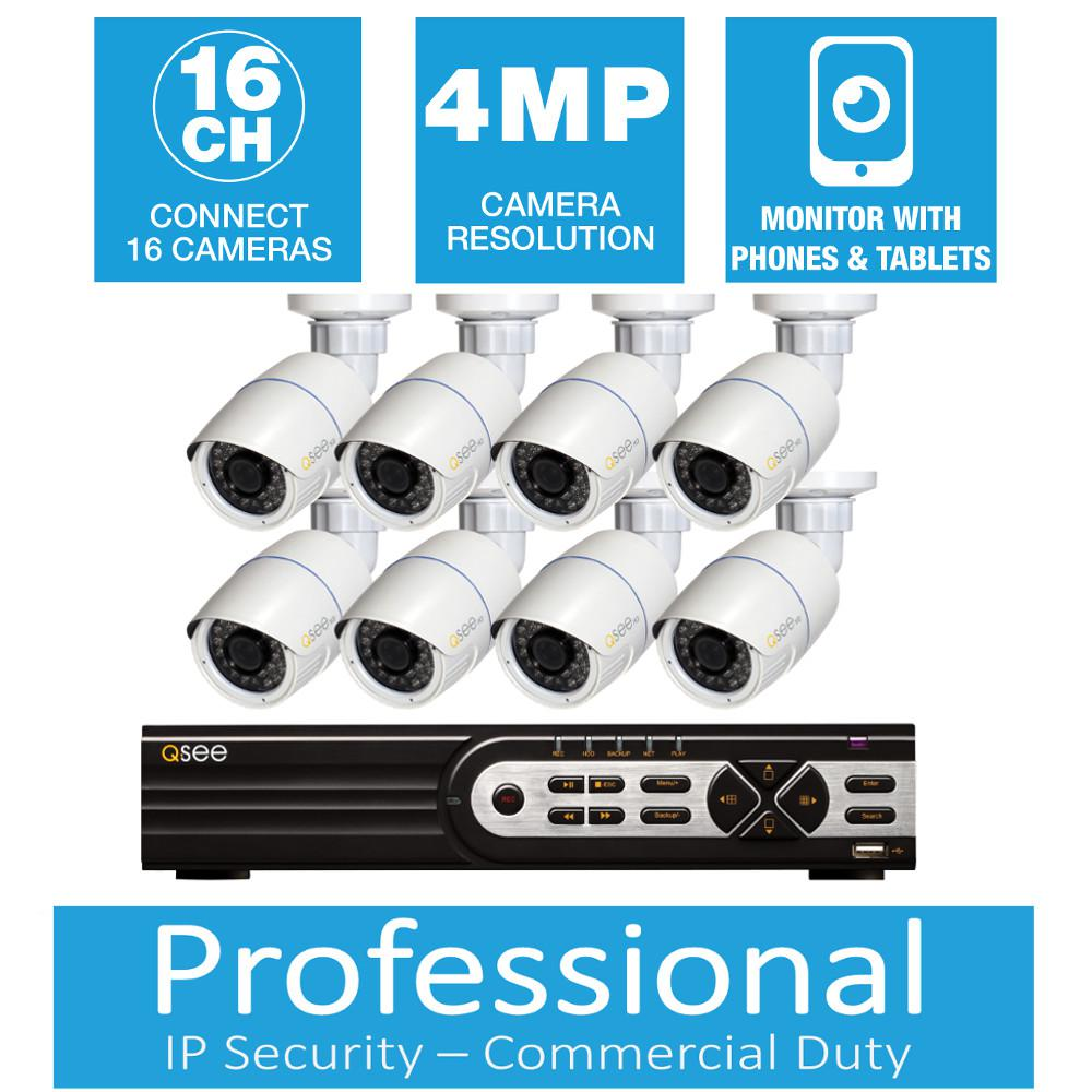 Q-SEE Freedom Series 8-Channel 4MP 2TB Network Video Recorder with (8) 4MP High Definition Bullet Cameras