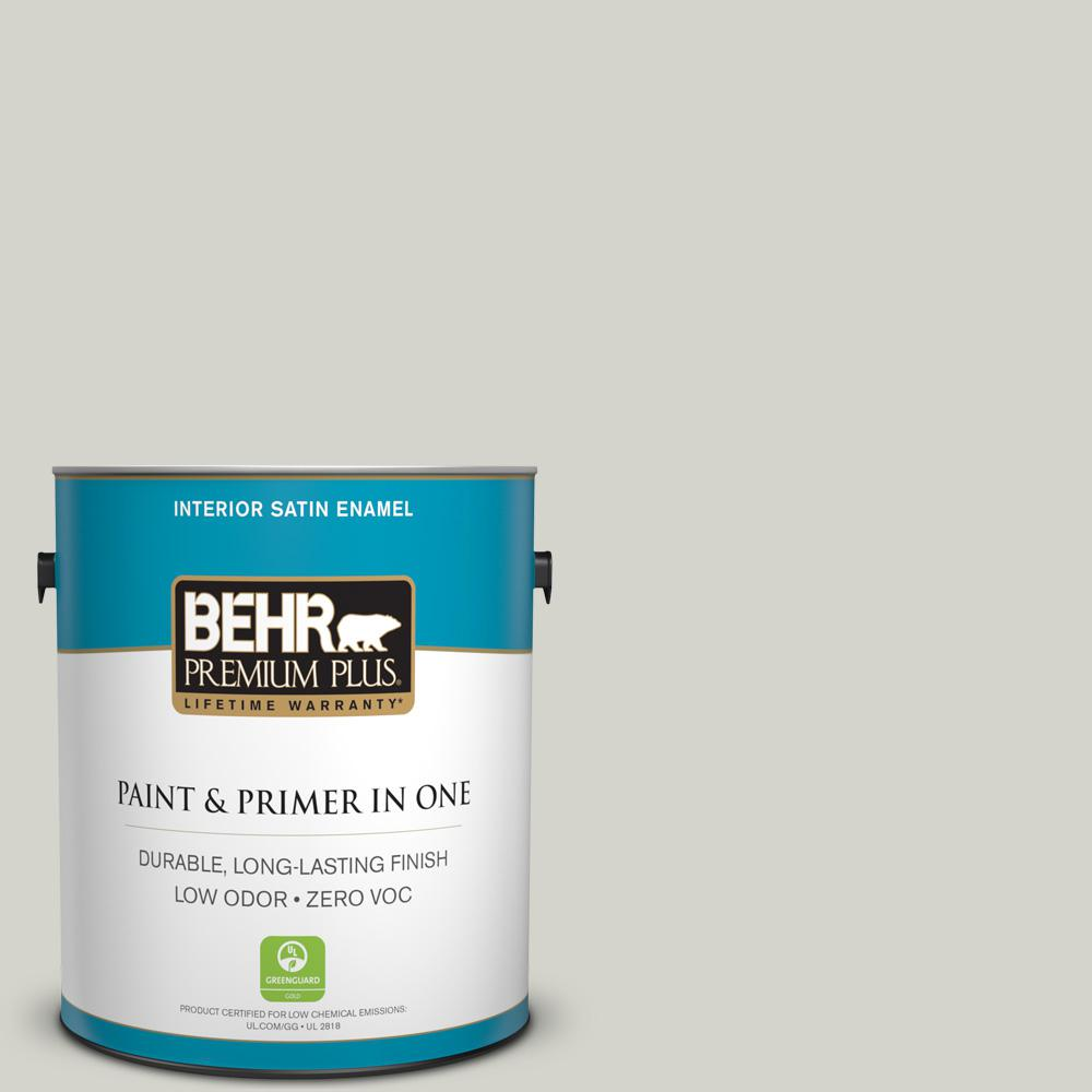 1 gal. #PPU25-10 Soft Secret Zero VOC Satin Enamel Interior Paint
