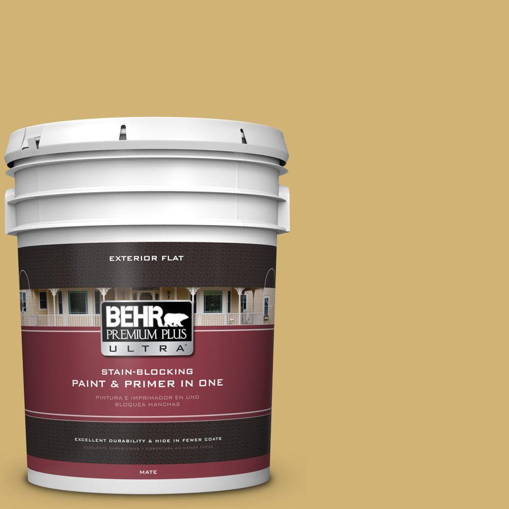 BEHR Premium Plus Ultra 5-gal. #M320-5 Dried Chamomile Fl...