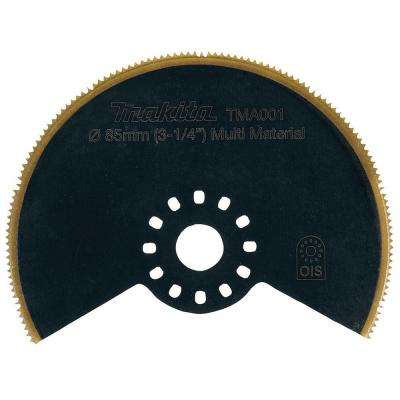 3-1/4 in. Round Saw Blade with Bi-Metal and Titanium Tooth Coating, Compatible With Oscillating Multi Tools
