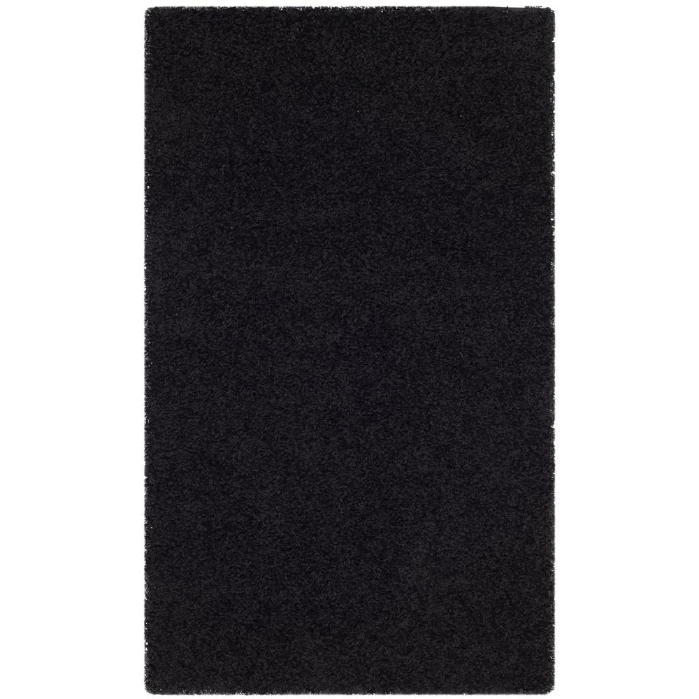 Athens Shag Black 3 ft. x 5 ft. Area Rug