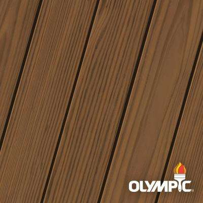 Elite 8 oz. Chestnut Brown Semi-Solid Exterior Wood Stain and Sealant in One Low VOC