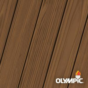 Olympic Elite 8 Oz Chestnut Brown Semi Transparent Exterior Wood Stain And Sealant In One Olyest3 16n The Home Depot