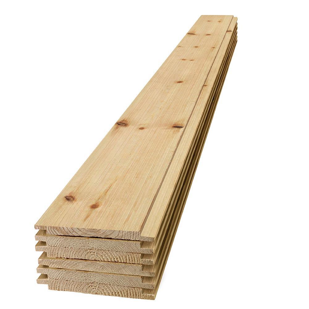 1 in. x 8 in. x 6 ft. Barn Wood Shiplap Pine Board (6-Pack)