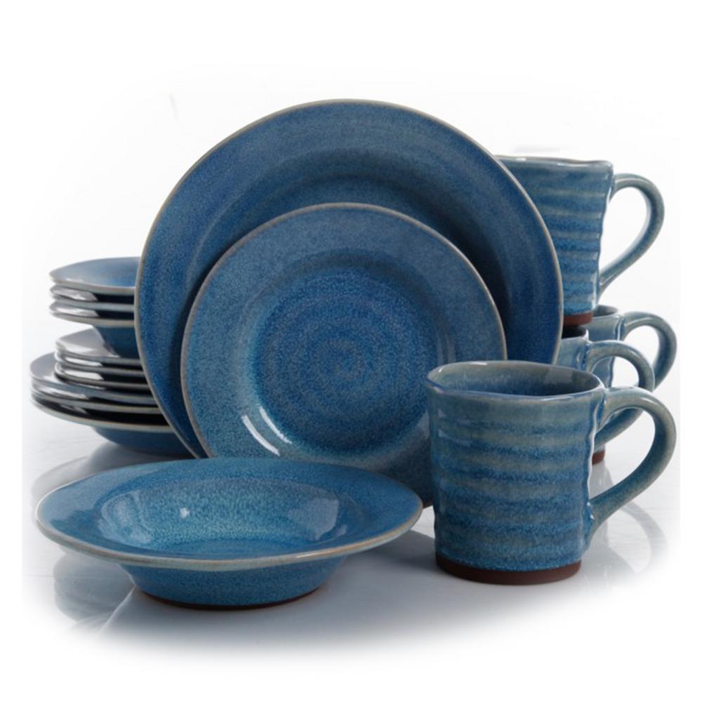 Mariani 16-Piece Blue Dinnerware Set