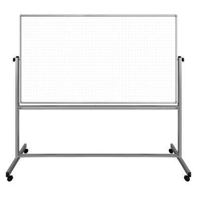 Lean Board 72 in. x 40 in. Mobile Whiteboard Magnetic White (1-Pack)