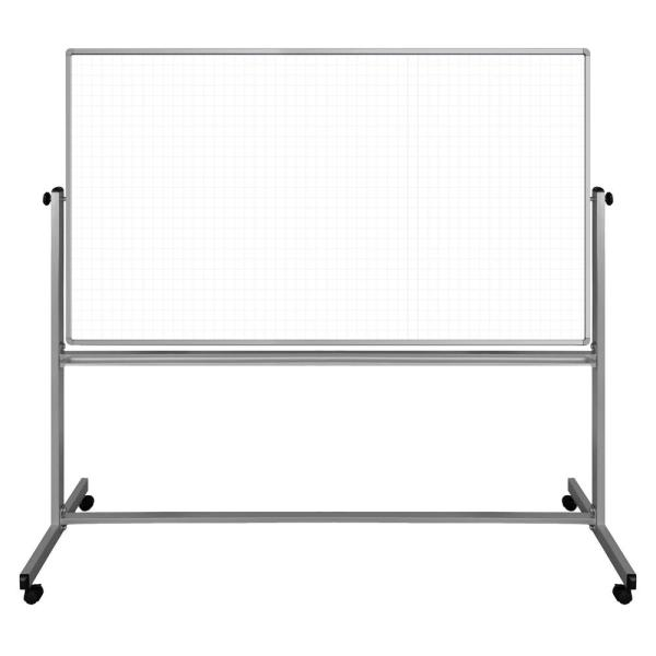 Luxor Lean Board 72 in. x 40 in. Mobile Whiteboard Magnetic White (1-Pack)