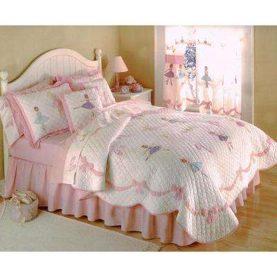 Ballet Lessons Twin Quilt with Pillow Sham