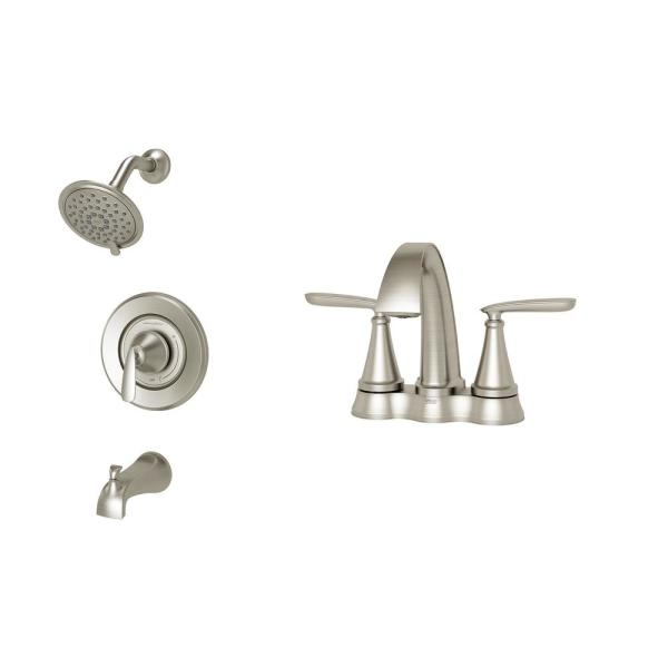Shower Faucet Set In Brushed Nickel