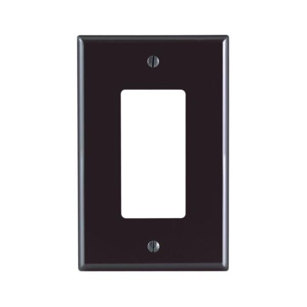 Brown 1-Gang Decorator/Rocker Wall Plate (1-Pack)