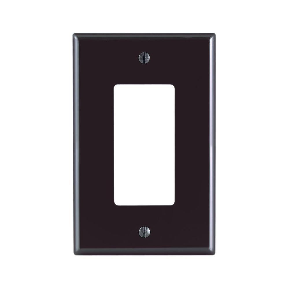 Brown switch plates wall plates the home depot decora 1 gang midway nylon wall plate brown sciox Gallery
