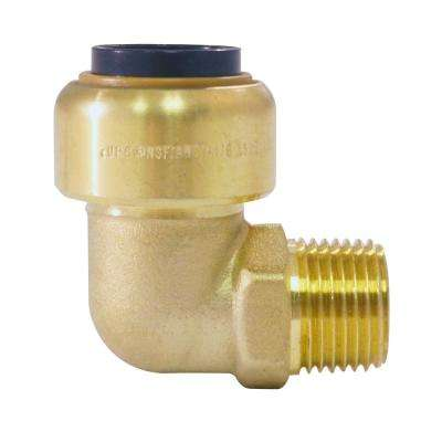 1/2 in. Brass Push-To-Connect x 3/8 in. Male Pipe Thread Elbow