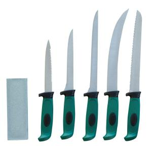 Click here to buy Sportsman Fishing and Hunting Knife with Storage Case (6-Piece) by Sportsman.