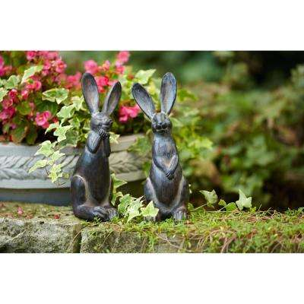 11.5 in. H Resin Rabbit (Set of 2)