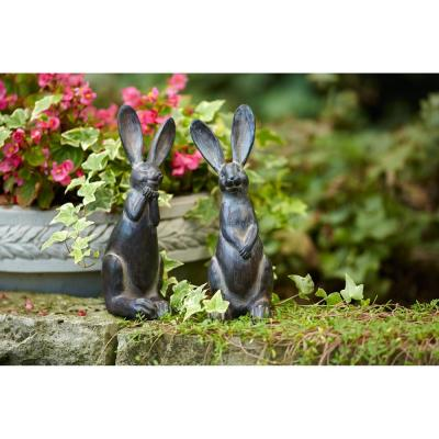 11.5 in. H Resin Rabbit (Set of 2)