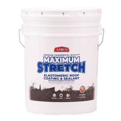 5 Gal. White Maximum-Stretch Rubber and Acrylic Reflective Roof Coating