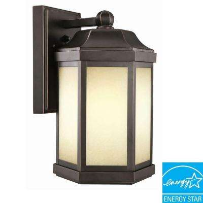 bennett oil rubbed bronze fluorescent outdoor wall mount downlight - Design House Lighting