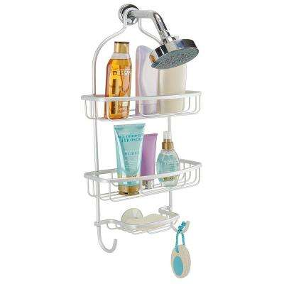 Flat Wire Shower Caddy In Aluminum