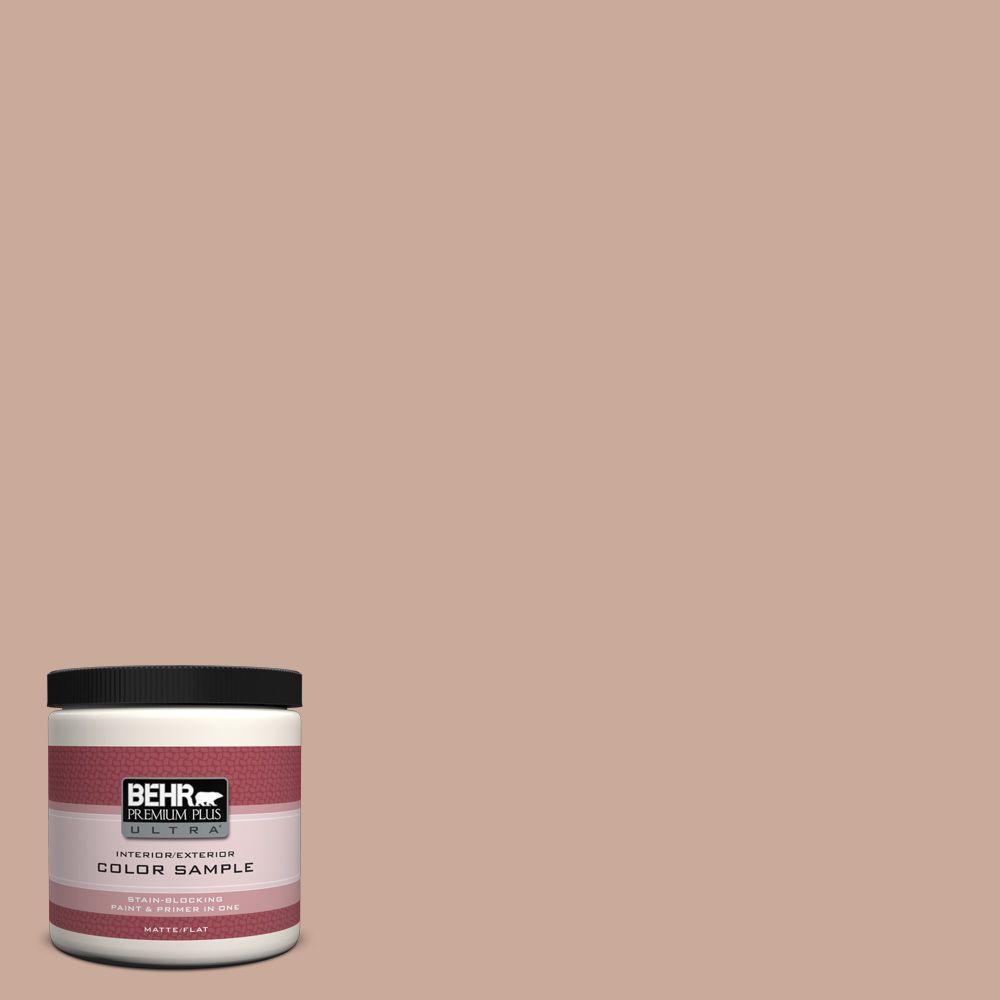 BEHR Premium Plus Ultra 8 oz. #ICC-97 Powdered Allspice Interior/Exterior Paint Sample