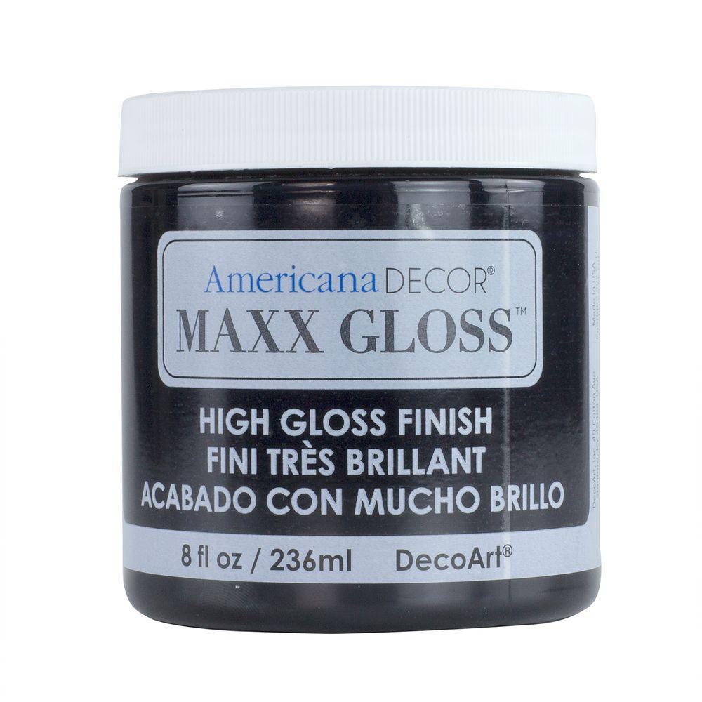 Americana Decor Maxx Gloss 8 oz. Patent Leather Paint
