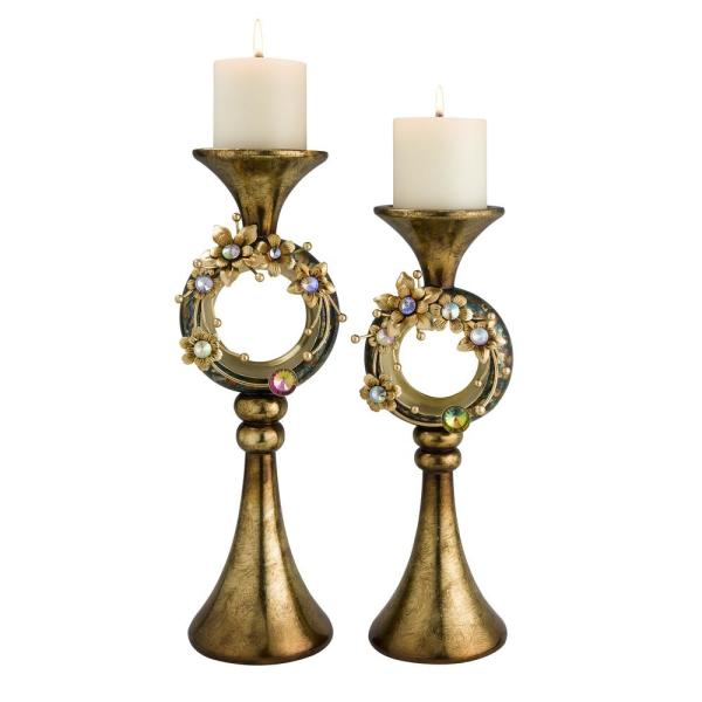 OK Lighting Aqua Demeter Candleholder OK-4251C Set of 2