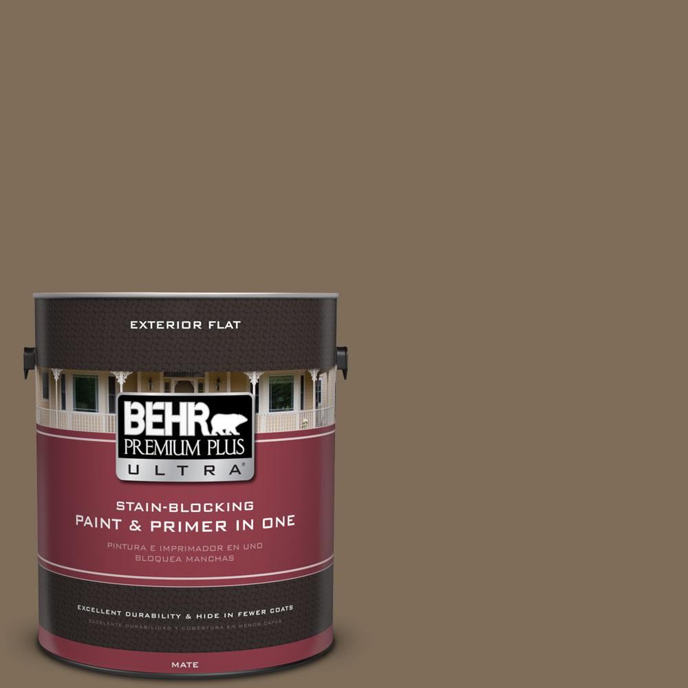 1-gal. #710D-6 Butternut Wood Flat Exterior Paint