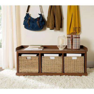 Lonan Medium Walnut Storage Bench