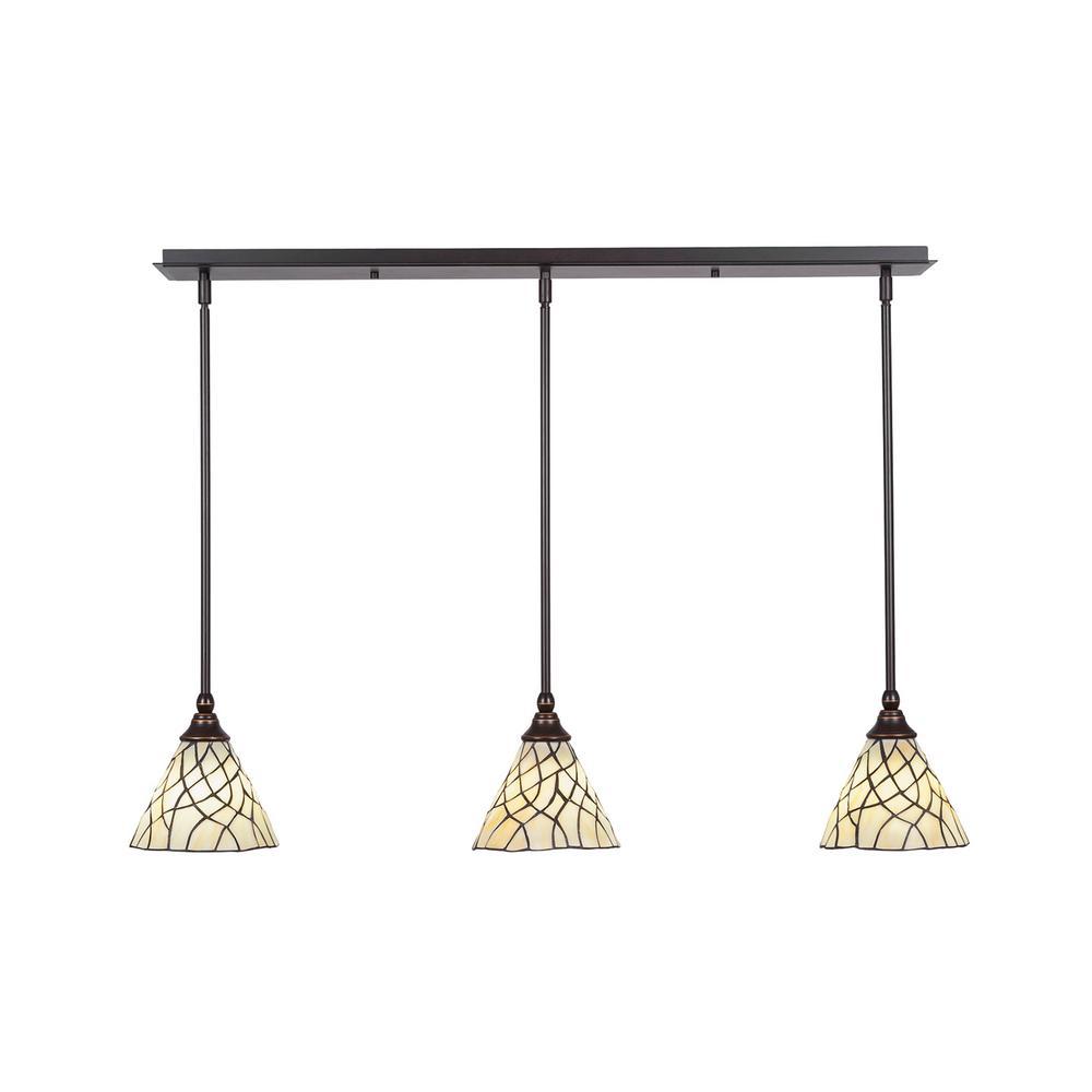 3 light island pendant chandelier cambridge 3light dark granite island pendant pendantcli0056450 the home